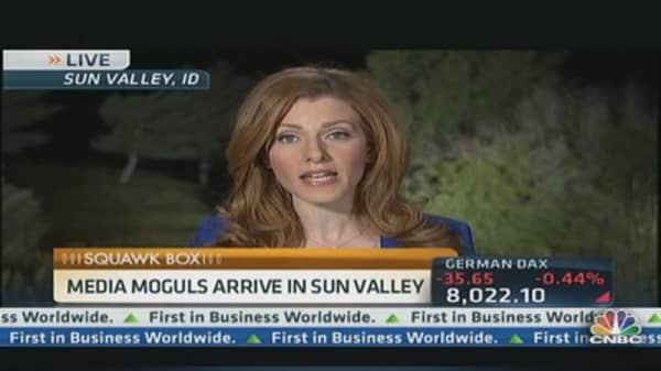 Media Moguls Wheel and Deal in Sun Valley