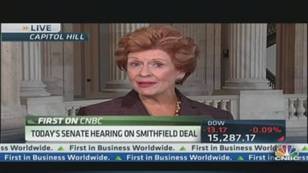Senate Holds Hearing on Smithfield Deal