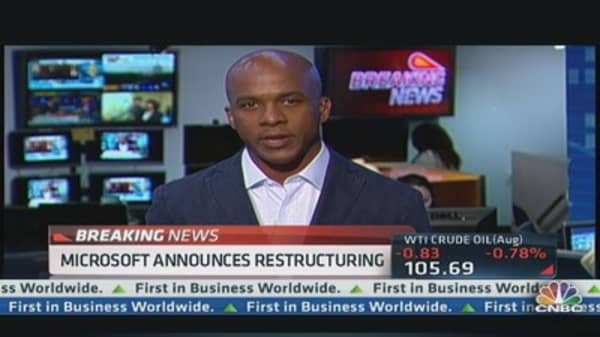 Microsoft Announces Restructuring Plans