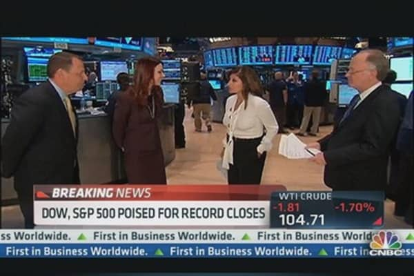 Dow and S&P Near Record Highs