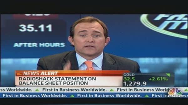 RadioShack Statement on Balance Sheet