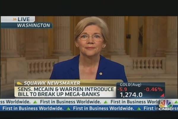 Sen. Warren Leads Charge to Break Up Big Banks