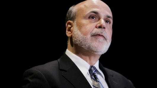 Ben S. Bernanke, chairman of the U.S. Federal Reserve, speaks during the National Bureau of Economic Research Conference in Cambridge, Massachusetts.