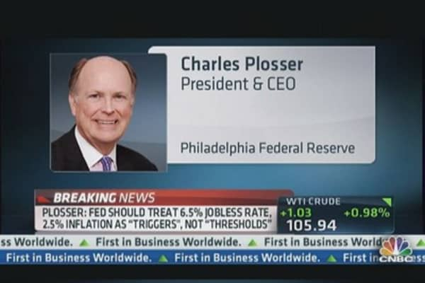 Plosser: Fed Should Wind Down QE By End of Year