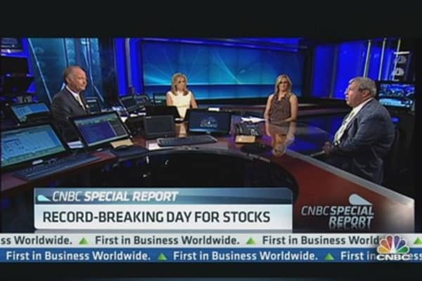 Record breaking day for stocks