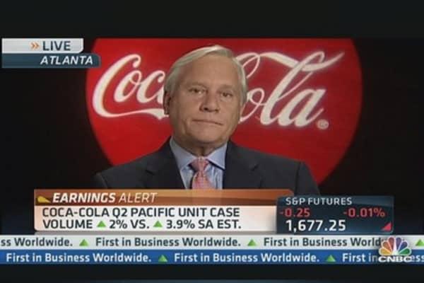 Coca-Cola tops Q2 estimates but acknowledges weakness