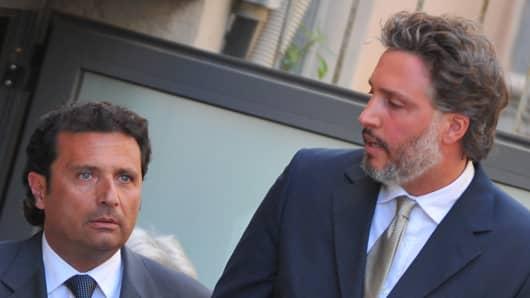 Costa Concordia captain Francesco Schettino (left) and his lawyer Francesco Pepe