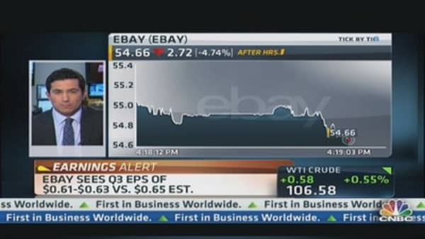 eBay Q2 earnings out