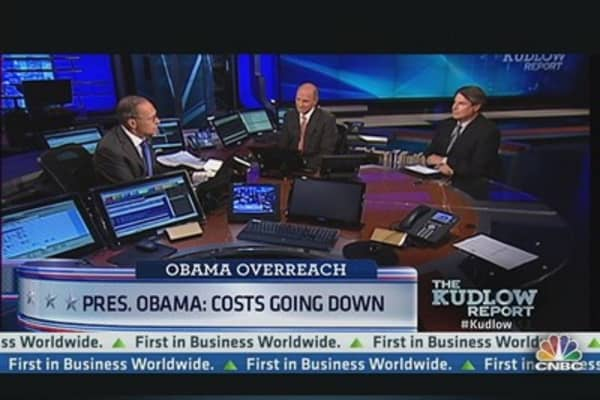 Pres. Obama: Costs going down
