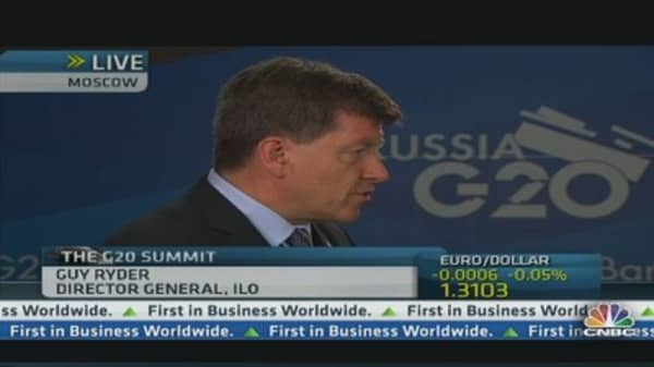 ILO's Ryder: G20 needs to 'change course'