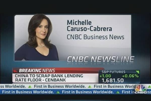 China to scrap bank lending rate floor: CenBank