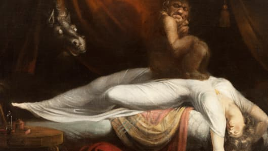 Detail from The Nightmare by Henry Fuseli