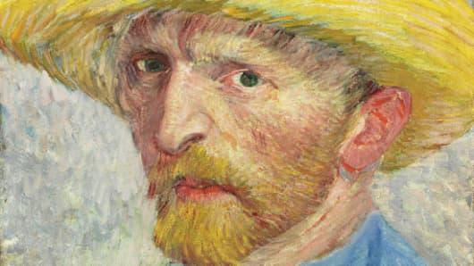 Detail from Van Gogh self portrait