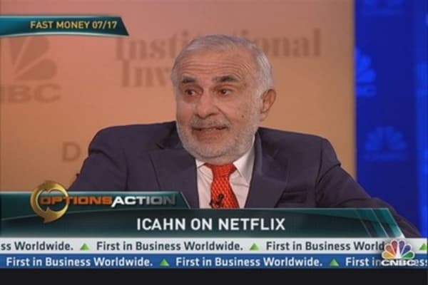 I haven't sold a share of Netflix: Icahn