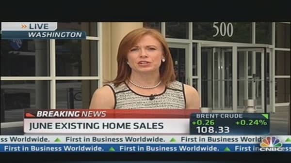 June existing home sales miss