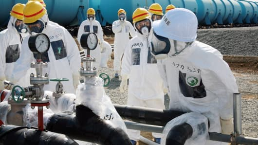 Officials at the Fukushima nuclear power plant in northern Japan