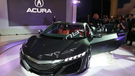 Acura NSX concept car at the Canadian Auto Show in February.
