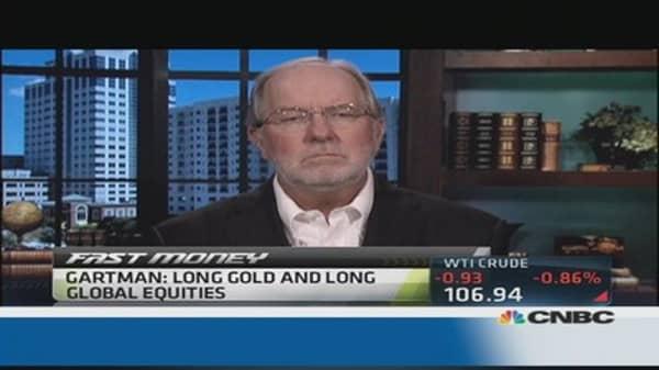 Gartman: Long stocks, long gold
