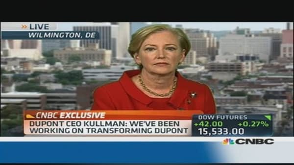 DuPont CEO: Earnings & restructuring