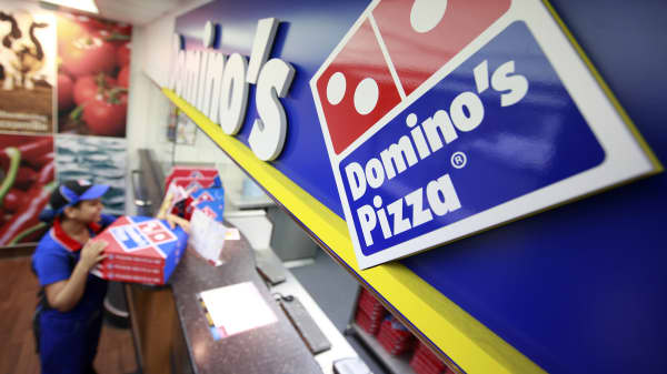 An employee at Domino's Pizza