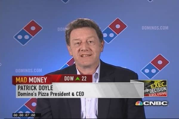 Domino's CEO: Excited about where we are
