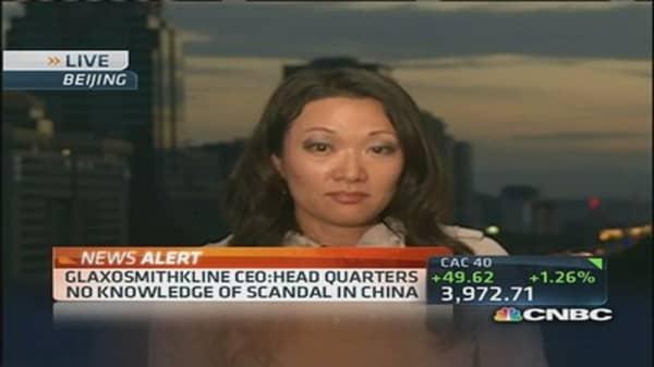 GlaxoSmithKline China charges update