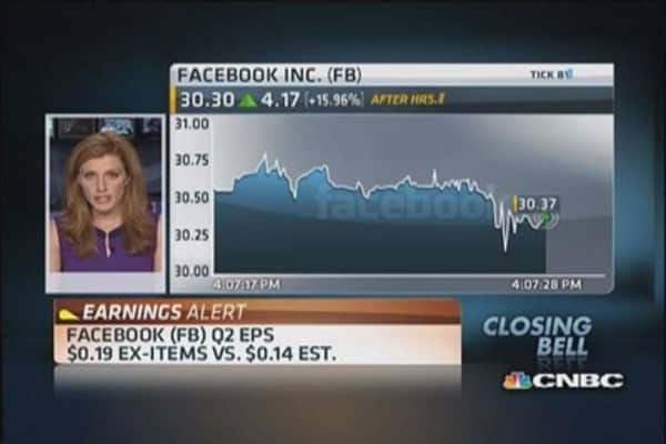 Facebook Q2 earnings