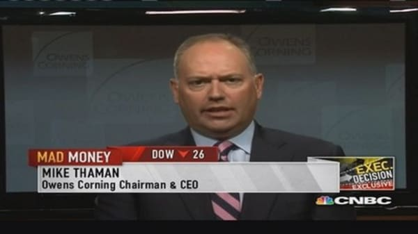 Owens Corning CEO: Seen increase in energy efficiency