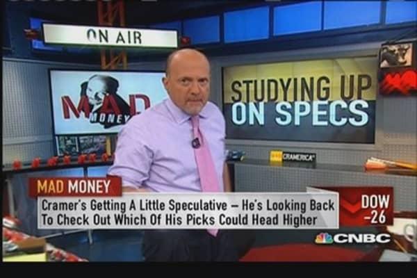 Cramer reviews his spec plays