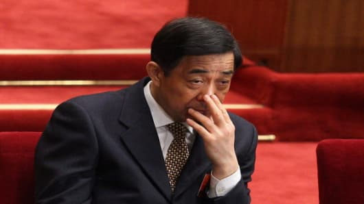 Former senior Chinese politician Bo Xilai