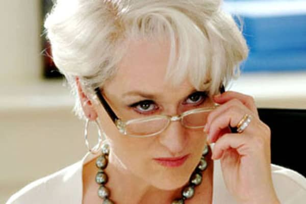 "Meryl Streep as Miranda Priestly in ""The Devil Wears Prada."""