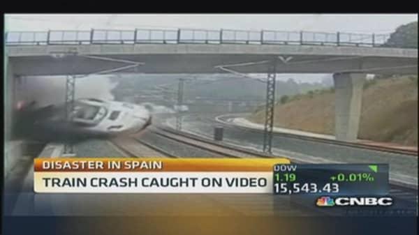 Train disaster in Spain