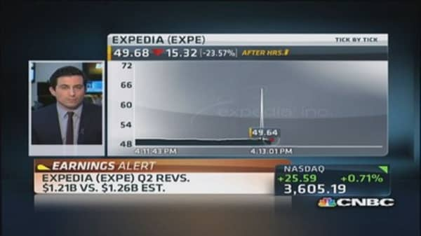Expedia Q2 earnings