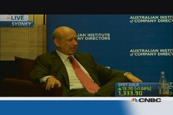 Lloyd Blankfein dishes out investment advice