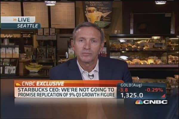 Starbucks CEO: 'Not losing any sleep over Dunkin' Donuts'