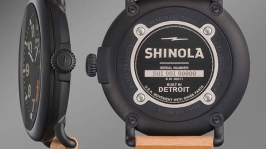 Shinola watch back