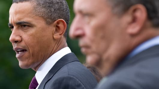 President Obama and Larry Summers in file photo.