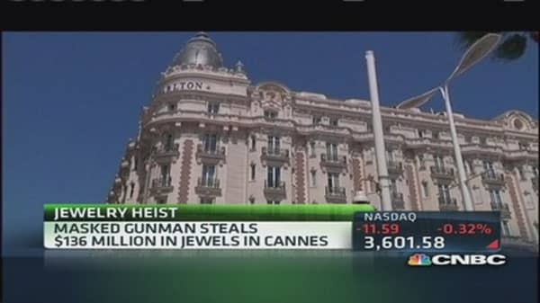 Jewel heist in Cannes