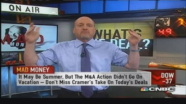 Cramer on today's M&A action