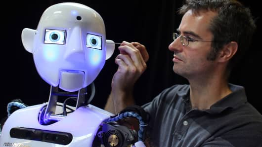 Now in its third generation, the fully interactive and multilingual RoboThespian robot is sold around the world to science centers and visitor attractions, but increasingly to academic research groups and universities where they are used as research and development platforms.