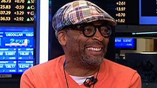 Spike Lee interviewed on CNBC at the NYSE, July 31, 2013