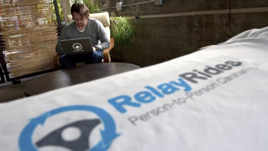 Shelby Clark, founder and chief community officer of RelayRides, at the company's office in San Francisco.