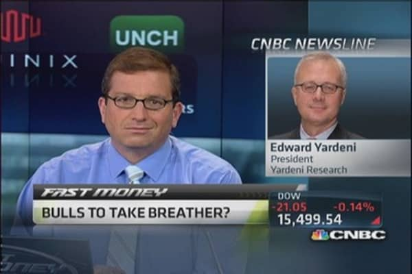 Stock rally could take a pause soon: Yardeni