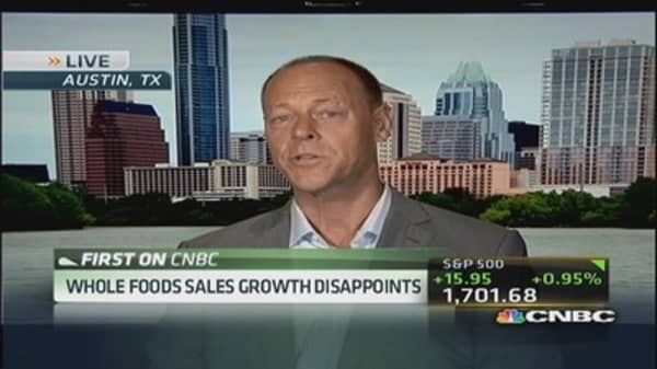Whole Foods earnings beat not enough to please the Street