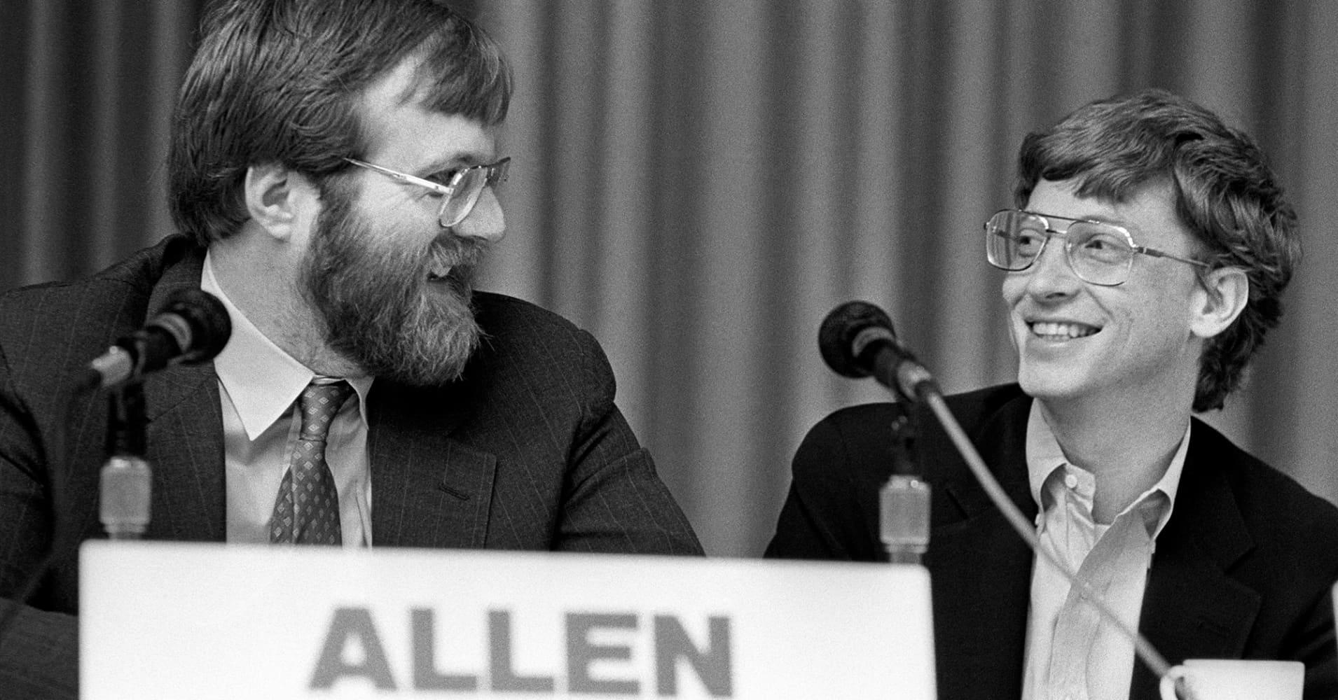 Paul Allen, left, and Bill Gates in 1987
