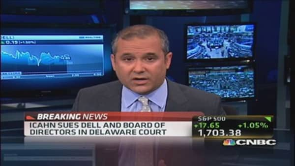 Icahn sues Dell & board of directors