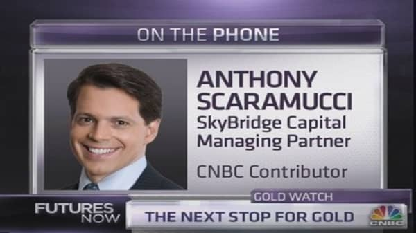 Scaramucci: Why hedge funds are selling gold