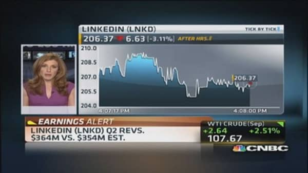 LinkedIn reports earnings