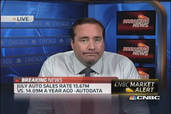 July auto sales rate