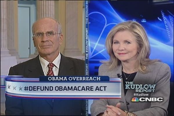 Defunding Obamacare